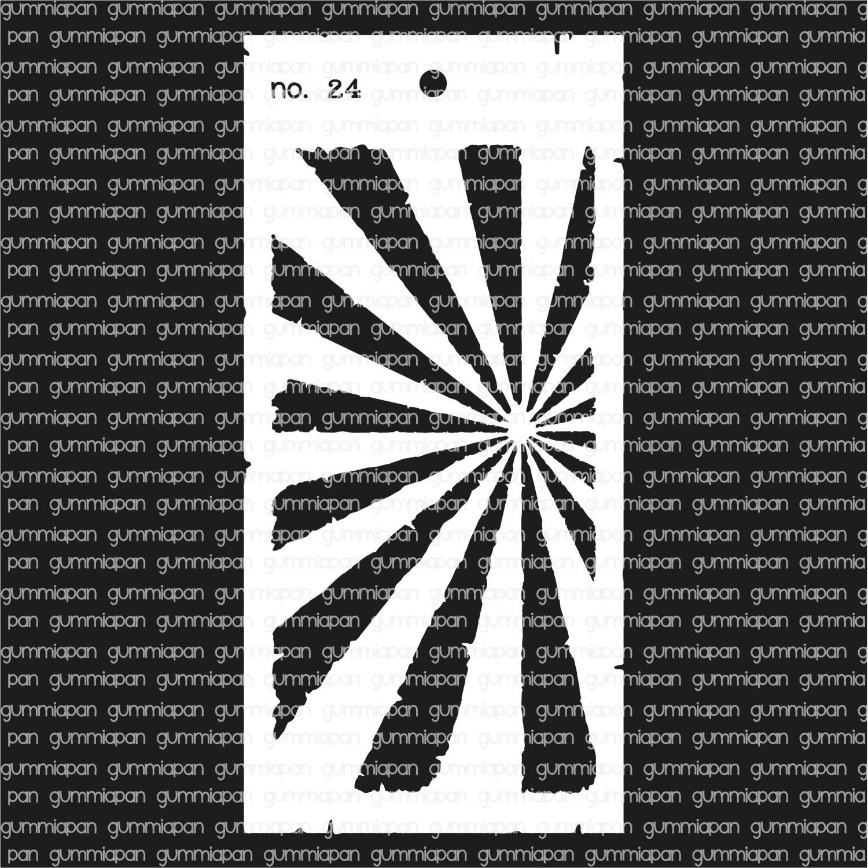Gummiapan -Stencil nr 24