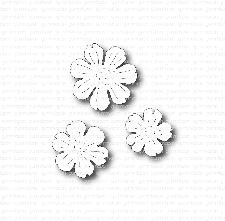 Gummiapan - Blommor - Dies