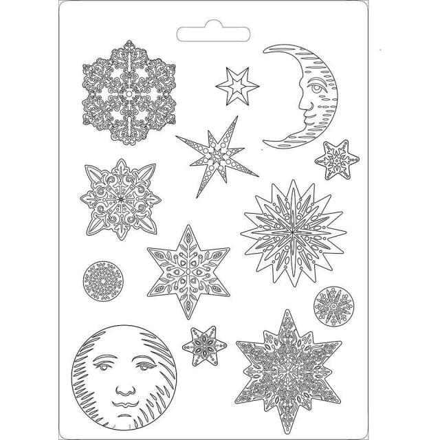 Soft Mould A4 size Snowflakes