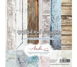 Memory Place Weathered Wood & Crystals 6x6 Inch Paper Pack