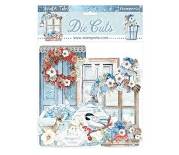 Stamperia Winter Tales Quotes & Labels Die Cuts