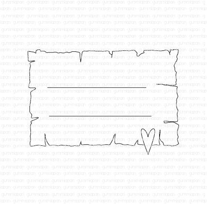 Gummiapan -Journaling med hjärta -  umontert GummiStempel