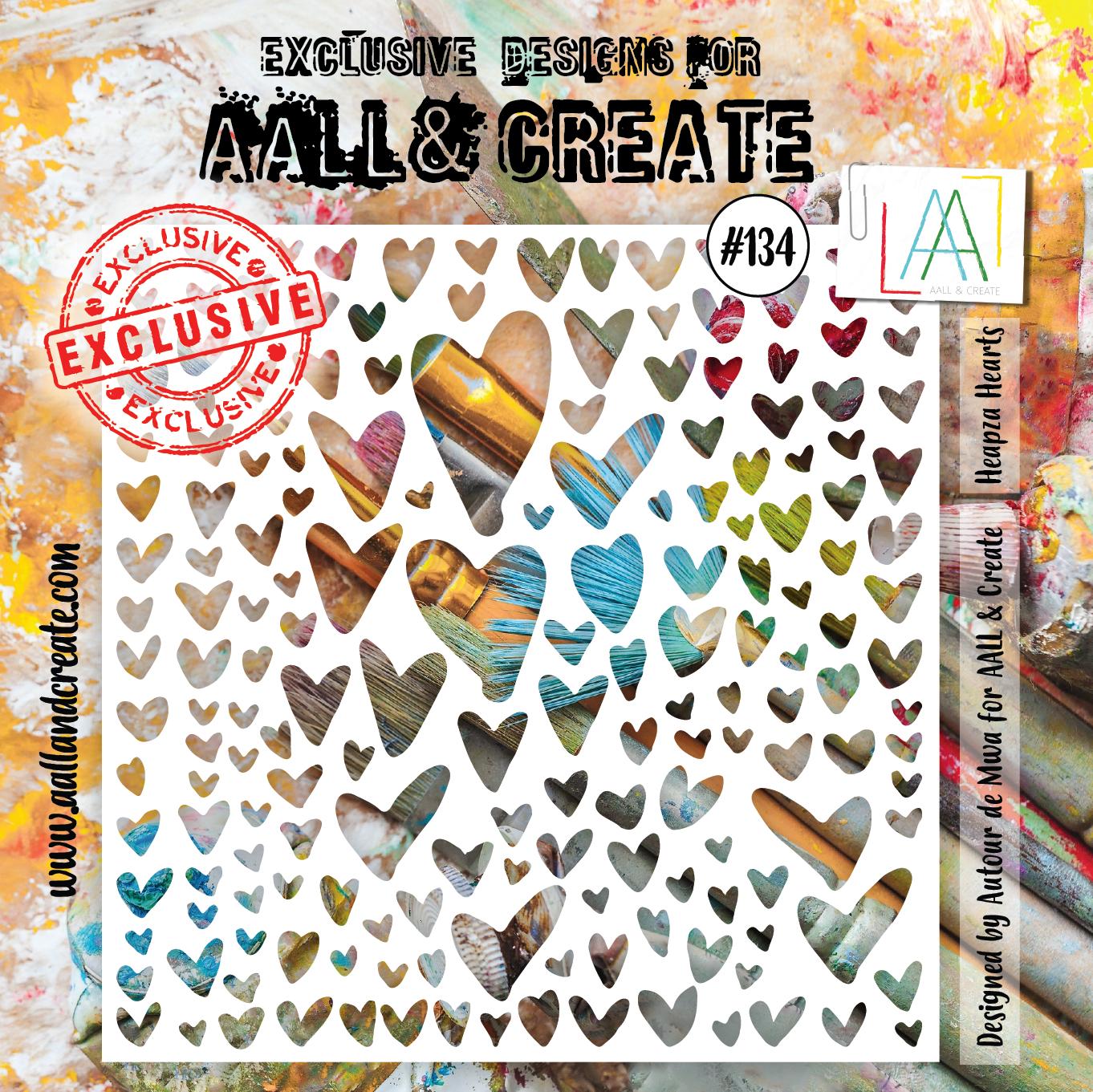 Aall&Create - 6 x 6 - #134 - Heapza Heart