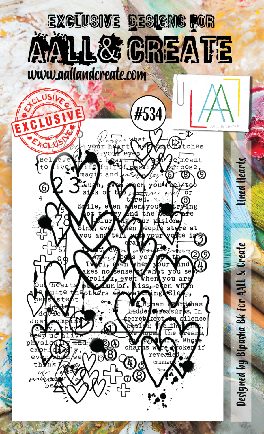 AALL& Create - Lines Hearts #534 - A6 STAMP