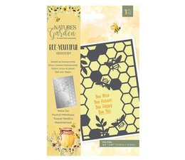 Crafter's Companion -  Bee-Youtiful Collection Metal Die Sweet as Honeycomb