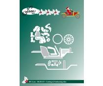 By Lene - Santa Claus in Car - Cutting & Embossing Dies