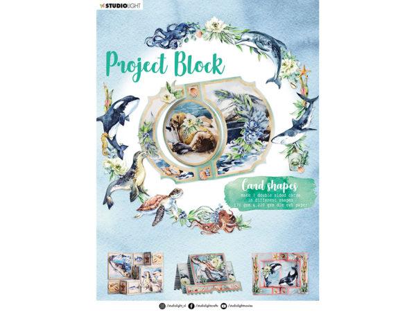 Studio Light Essentials Project block – Card shapes Ocean 05