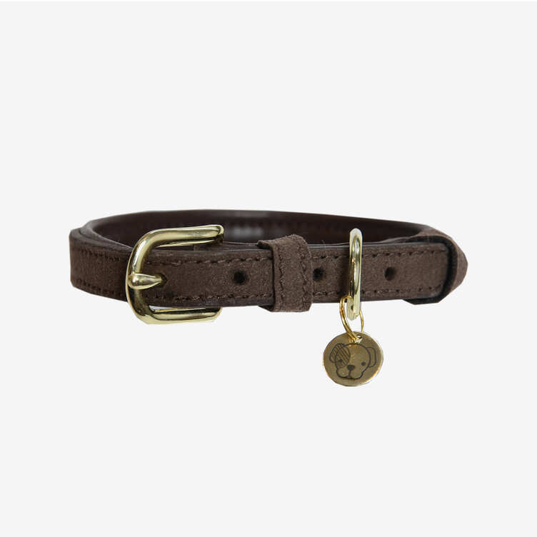 Kentucky Dog Collar Leather Velvet