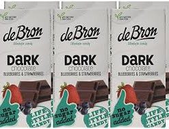 de Bron Dark Chcolate Bluberries & Strawberries 100g