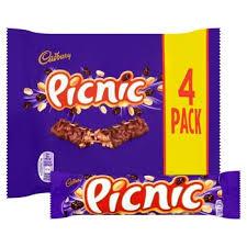 Cadbury Picnic 4-pac 128gr