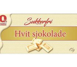 Sukkerfri Hvit Sjokolade 75gr