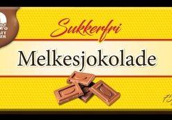 Sukkerfri Melkesjokolade 75gr