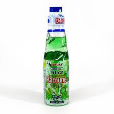 Ramune Soft Drink Melon 200ml