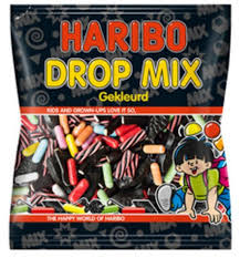 Haribo Drop Mix Gekleurd 1kg