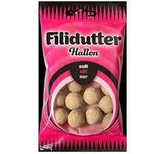 Konfekta Fillidutter Hallon Salt Søt Sur 65gr