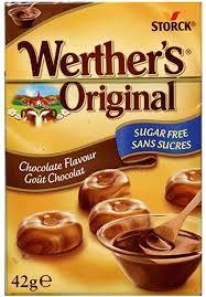 Werther's Original Chocolate Flavour Sukkerfri 42gr