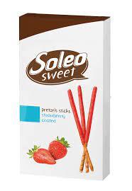 Soleo Sweet Pretzels Sticks Strawberry Coated 50g
