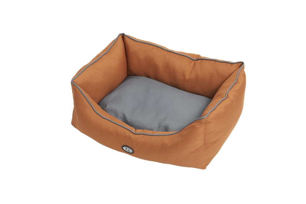 BUSTER Sofaseng 45x60cm, Leather Brown/Steel Grey
