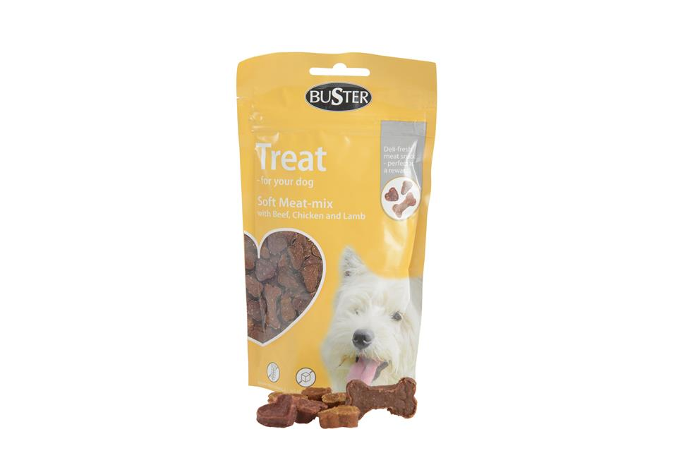 BUSTER Treat, Soft MeatMix t/hund, 60 gr