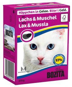 Bozita katt Biter i gele Laks og Musling 370 g