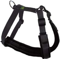 20916 Trekking Harness M max. 92 cm, Nylon black/fleece