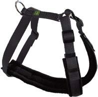 20916 Trekking Harness M max. 92 cm, Nylon black/fleece