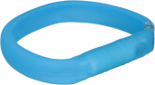 Flash light band USB, XS–S: 35 cm/30 mm, blue