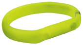 Flash light band USB, L–XL: 70 cm/18 mm, green