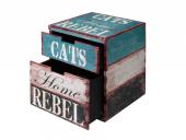 Kattehule/Boks 434-425992 i Tre Rebel L 40x40x50cm