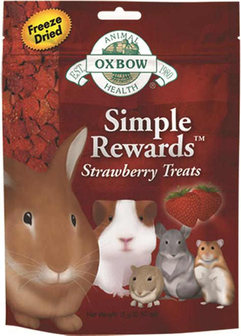 OXBOW gnagersnacks jordbær 14 g