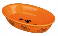 Katteskål 24495 Oval Keramikk M/Motiv Farget 0,2L 15x10cm