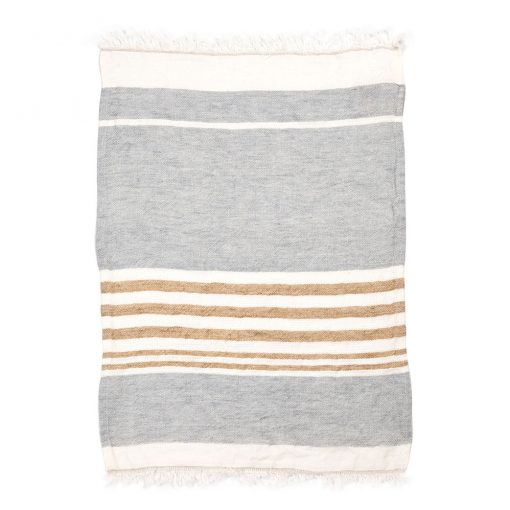 The Belgian towel 110x180cm, Ash Stripe