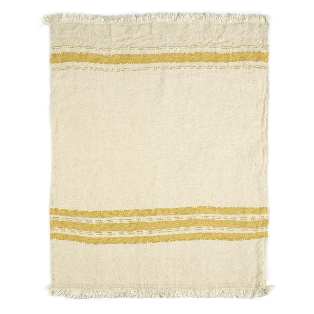 The Belgian towel,110x180cm, Mustard Stripe