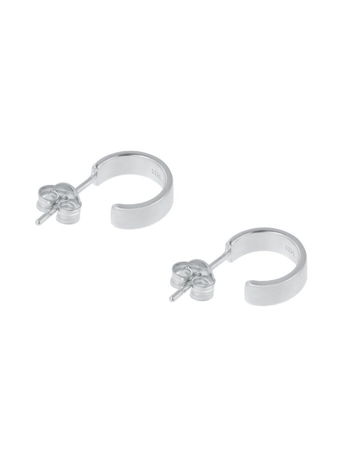 CHUNKY MINI HOOPS SILVER - IDFINE