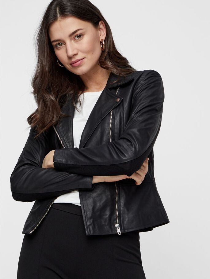 YASSOPHIE LEATHER JACKET - YAS