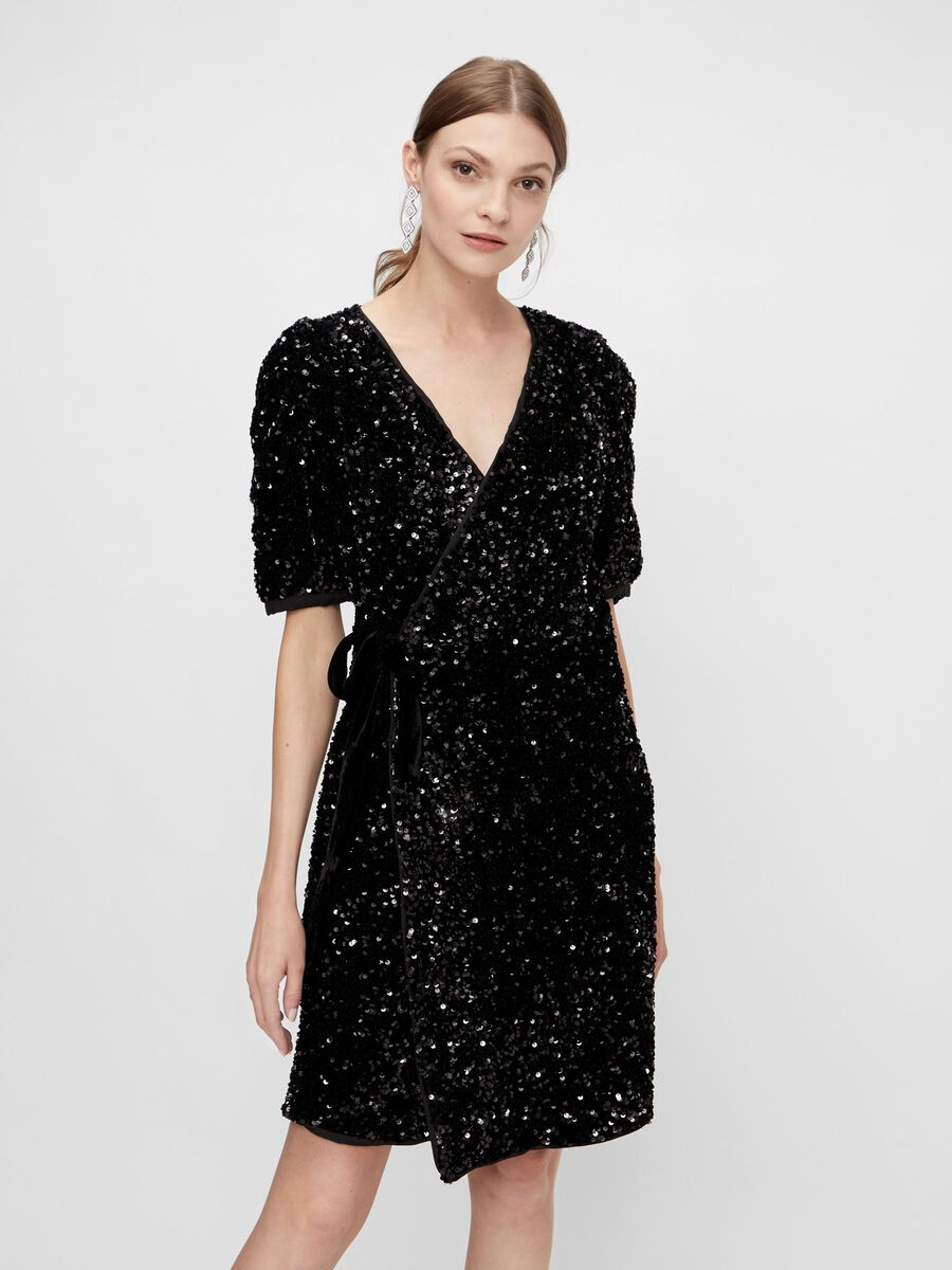 YASSEQUELLA WRAP DRESS - YAS