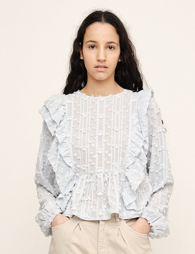 JULIA RUFFLE BLOUSE - UNTOLD STORIES