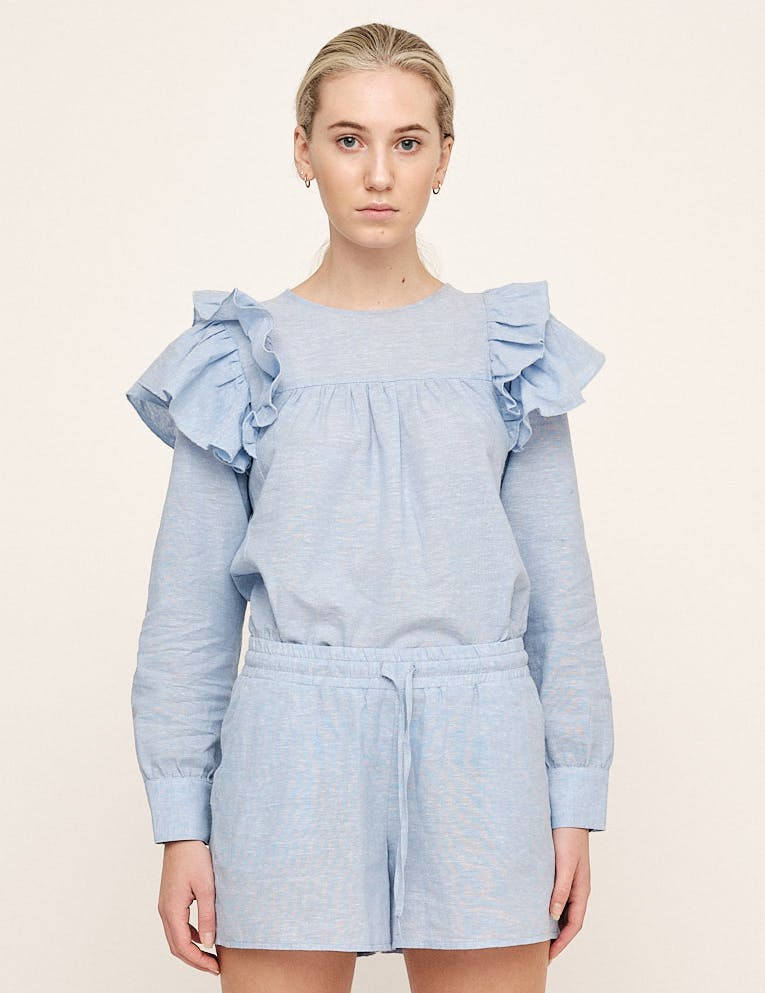 LISA RUFFLE BLOUSE - UNTOLD STORIES