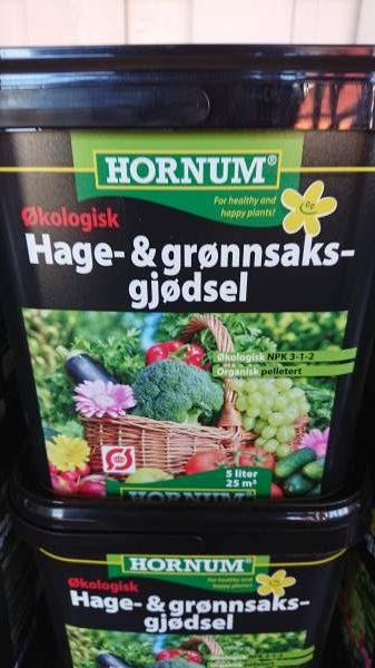 Hage og grønsaksgjødsel 5 liter, Økologisk