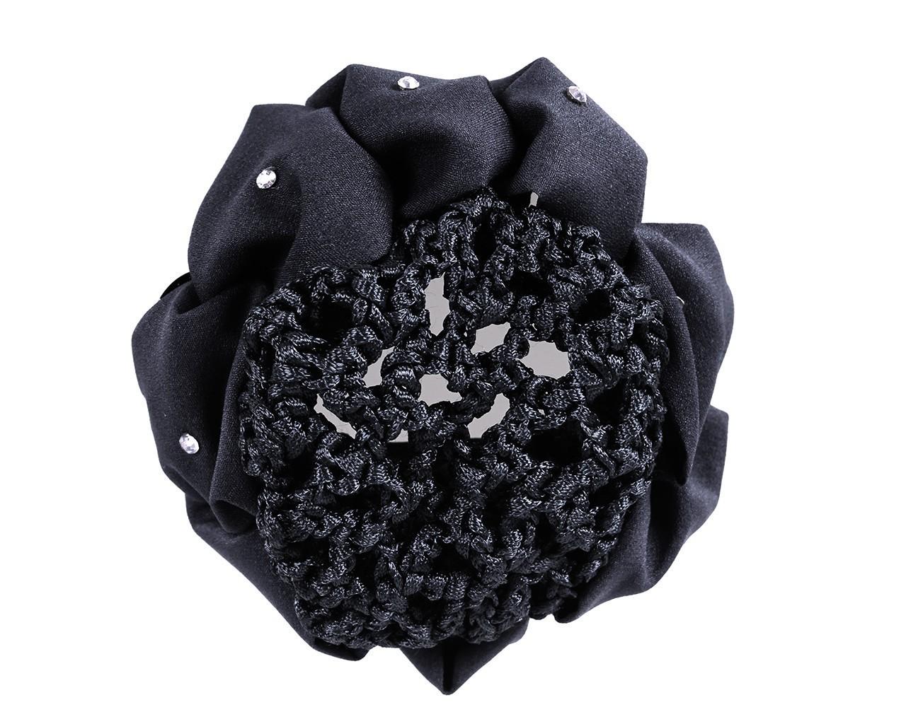 Hårnett med sort scrunchie