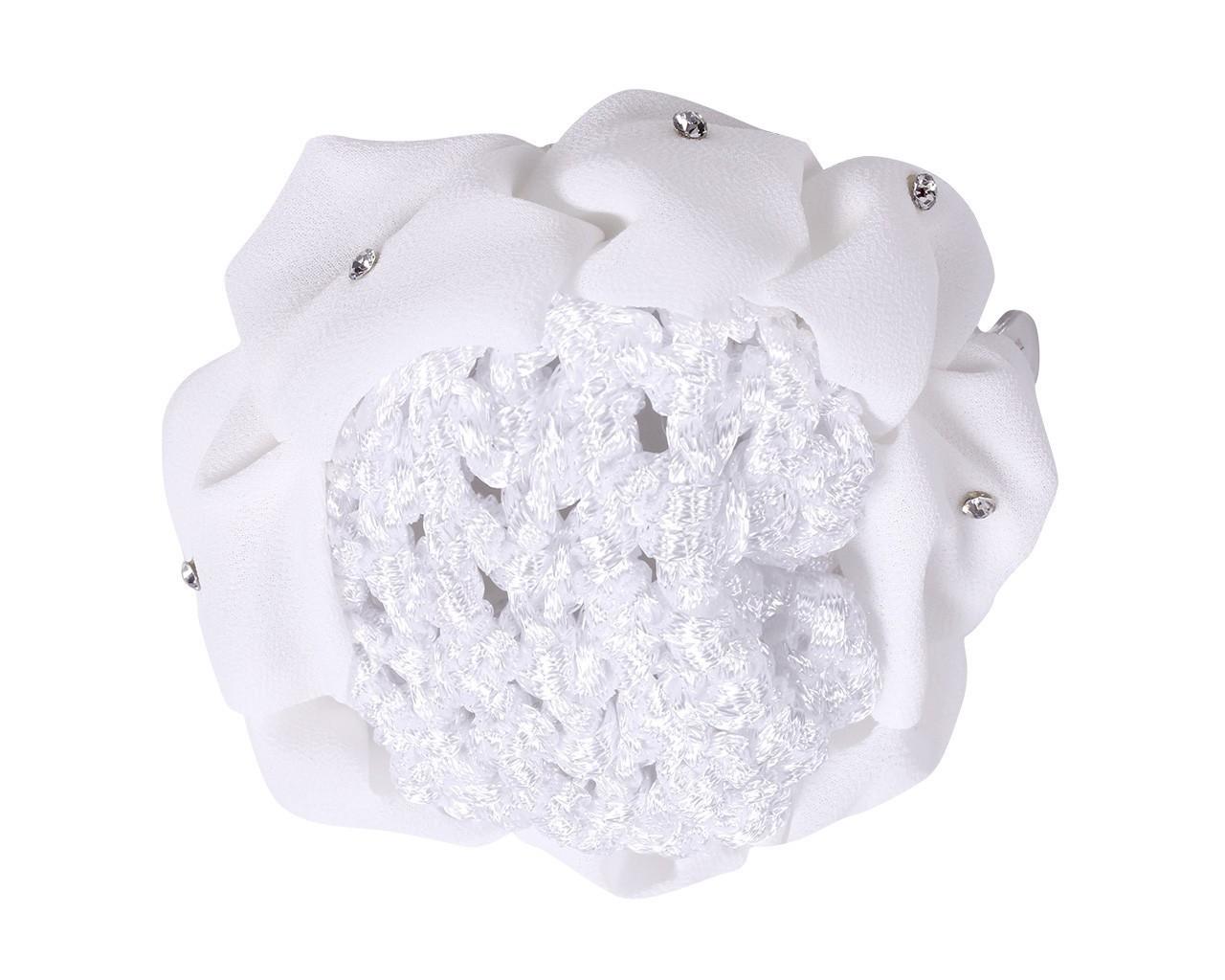 Hårnett med hvit scrunchie