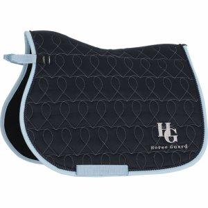 HG Heart saddlepad PONY NAVY