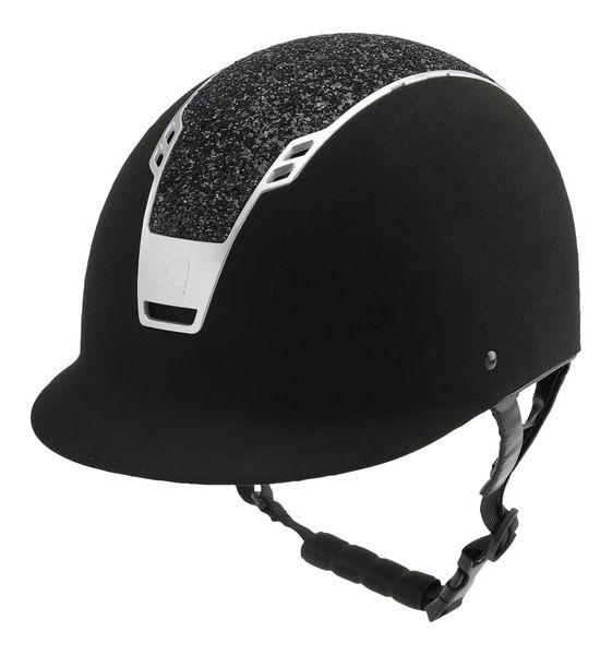 Equioage hjelm SUEDE/BLACK/GLITTER