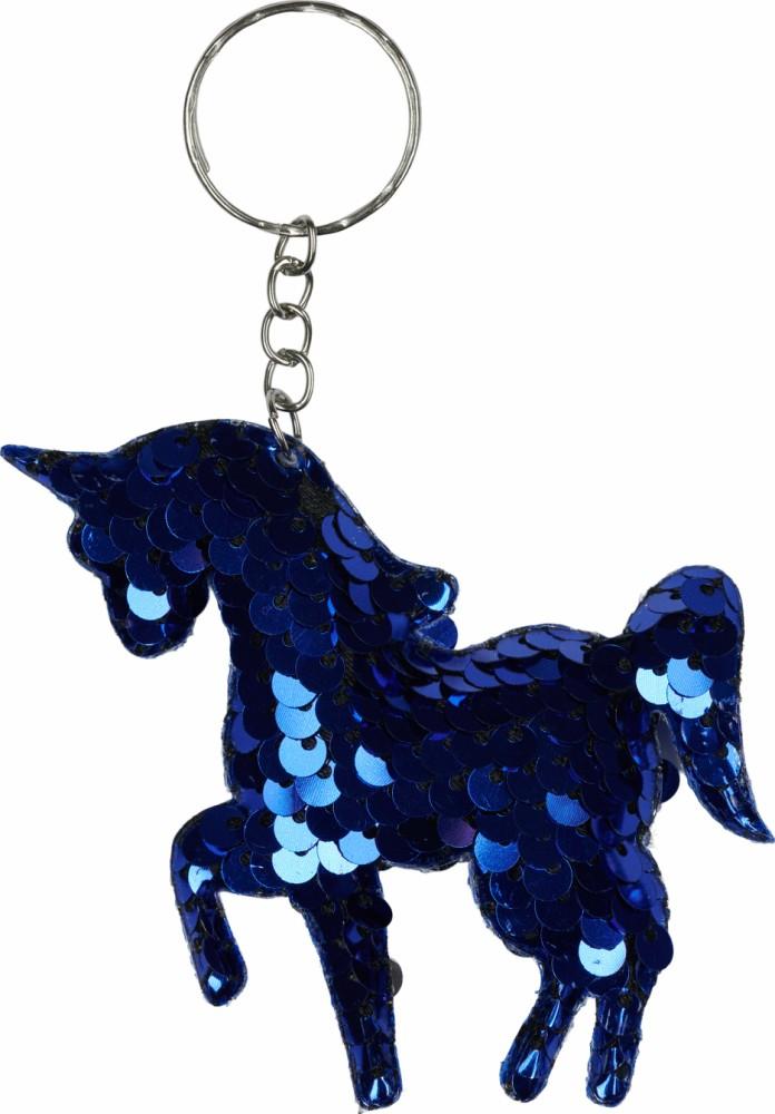 EQ Glittery nøglering blå onesize