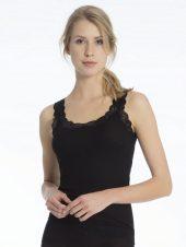Calida, ull/silke, singlet m/blonde