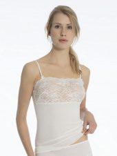 Calida, ull/silke, stropp m/blonde