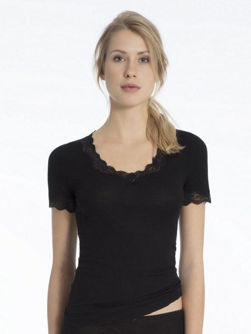 Calida, ull/silke, t-shirt m/blonde