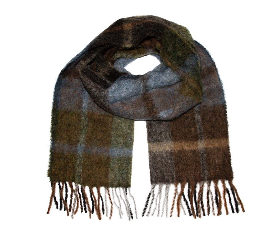Brushed scarf blå