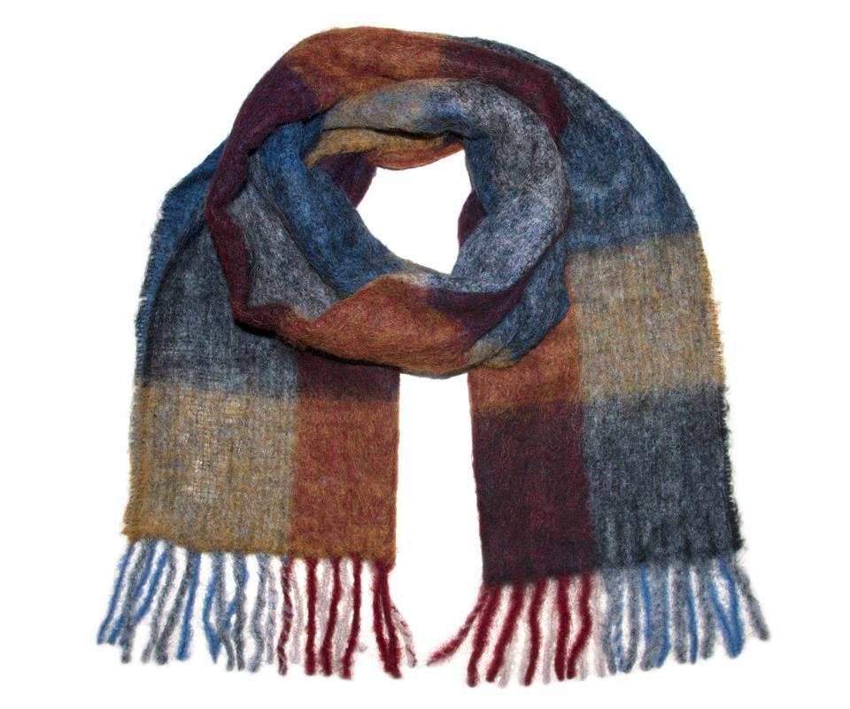 Brushed scarf okergul