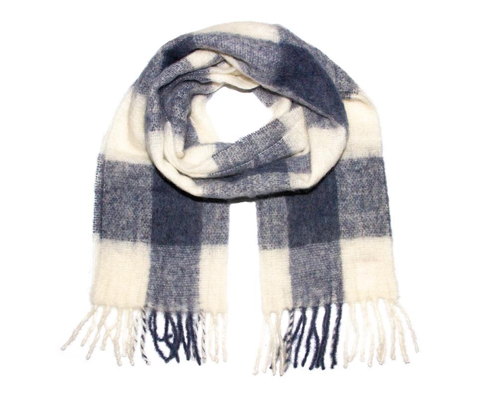 Brushed scarf blue